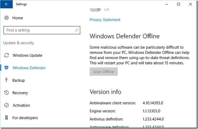 within the settings app go to update u0026 security and then to sub category windows defender